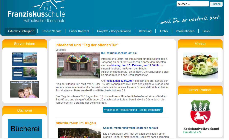 Franziskusschule Webseite