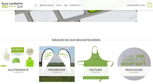 Shopansicht web